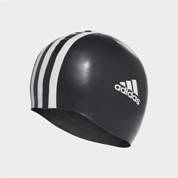 adidas 3 Stripes Silicone Swim Cap Bone